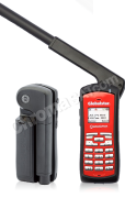 Globalstar GSP-1700 Satellite phone with antenna up with reflection