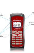 Globalstar GSP-1700 Satellite phone with call outs with reflection