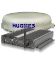 hughes 9350-c10 bgan mobile satellite internet terminal package with transcevier and auto-tracking antenna