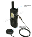 Iridium 9555 Satellite Phone with external mag-mount antenna and callouts