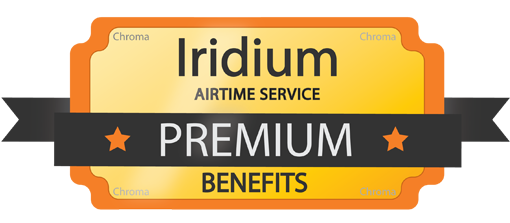 Iridium Premium service benefits badge for web
